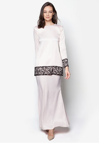 Sahara Kurung Modern from Izzabell Couture in White
