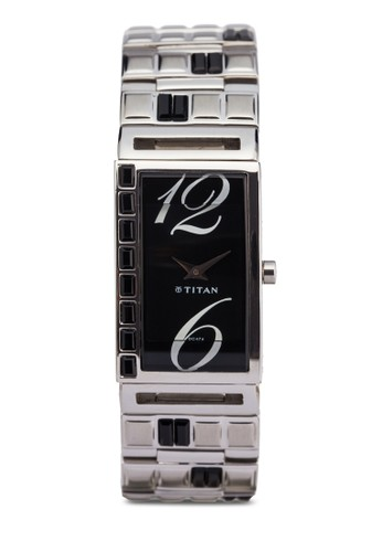 Titan  2508SM02 雙指針時尚鏈飾方形錶, 錶類, zalora 心得時尚型