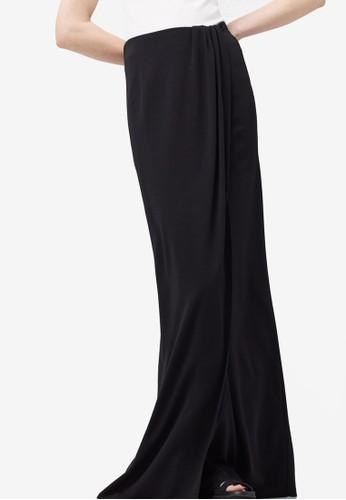 裹飾開叉長裙, zalora 包包評價服飾, 長裙