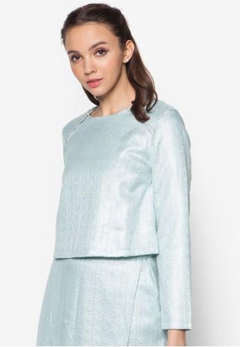 Jacquard Topzalora 衣服尺寸 With Trim, 服飾, 上衣