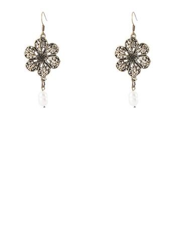 鏤空花飾耳環, 飾品配件zalora 心得, 飾品配件