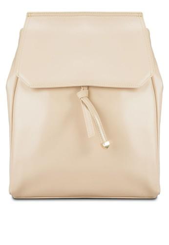 翻蓋仿皮後背包, 包, 飾品zalora 鞋評價配件