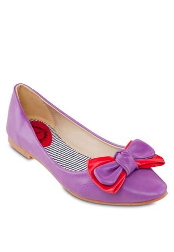 雙蝴蝶結zalora 鞋評價平底鞋, 女鞋, 芭蕾平底鞋