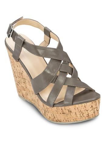 Melissa 交叉帶木製楔形鞋, 女鞋, zalora鞋楔形涼鞋