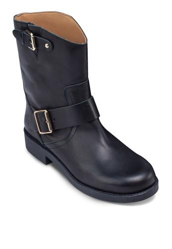 皮革中筒靴, 女mango手錶官網鞋, 靴子
