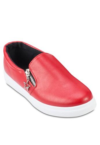 側拉鍊懶人鞋,zalora 台灣 女鞋, 鞋