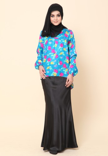 Mini Kurung Fishtail Blue Turqoise from Dirs in Blue