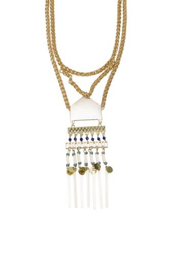 zalora 手錶 評價民族風層次墜飾項鍊, 飾品配件, 項鍊