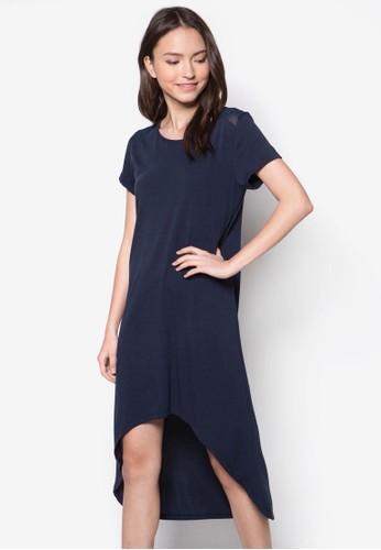 不對稱下擺連身裙, 服飾, zalora鞋洋裝