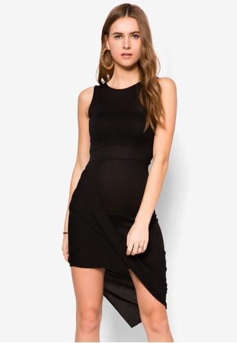 裹飾貼zalora 鞋評價身洋裝, 服飾, 洋裝