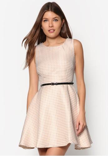 Premium 印花腰帶洋裝, 服飾, zalora 包包 ptt洋裝