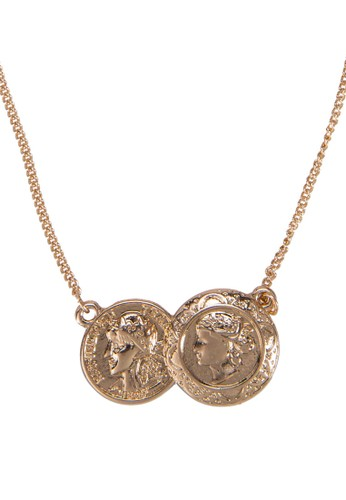 Double Coin Delicate Shortzalora 心得 Necklace, 飾品配件, 飾品配件
