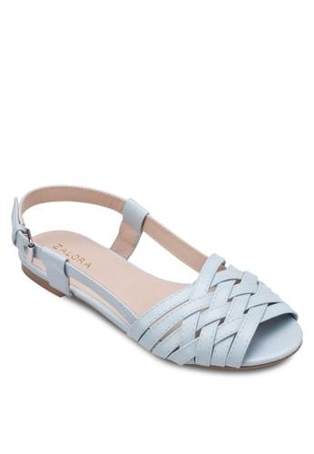 編織繞環涼鞋zalora退貨, 女鞋, 涼鞋