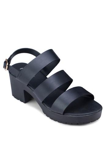 Hulzalora 男鞋 評價a寬帶繞踝粗跟鞋, 女鞋, 鞋