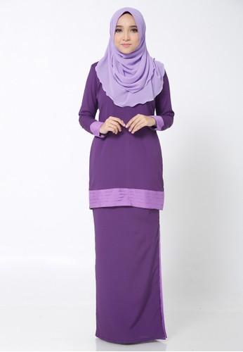 Hana Kurung Modern from Arisha in Purple