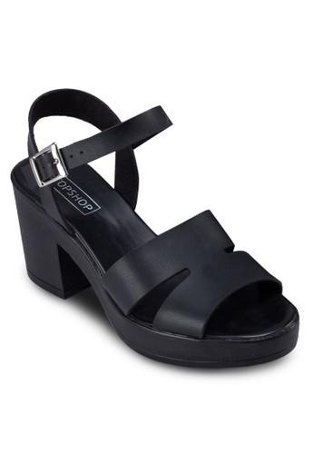 Denny 粗跟厚底涼topshop hk鞋, 女鞋, 鞋