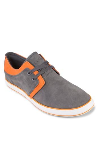 Franky 繫帶麂皮休閒鞋, zalora 內衣鞋, 鞋