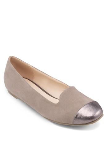 拼接鞋頭平底鞋, 女鞋, zalora時尚購物網評價芭蕾平底鞋