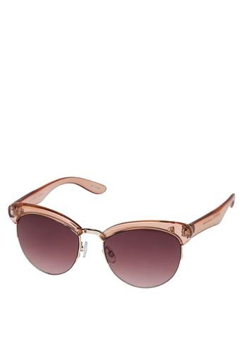 半zalora退貨透明半框太陽眼鏡, 飾品配件, 飾品配件
