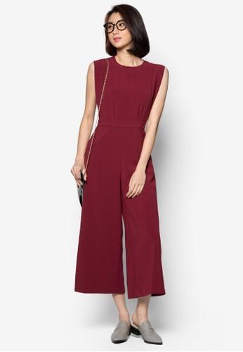九分寬管連身zalora時尚購物網的koumi koumi褲, 服飾, 服飾