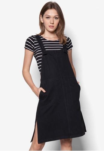 吊帶丹寧連身裙, zalora鞋子評價服飾, 服飾