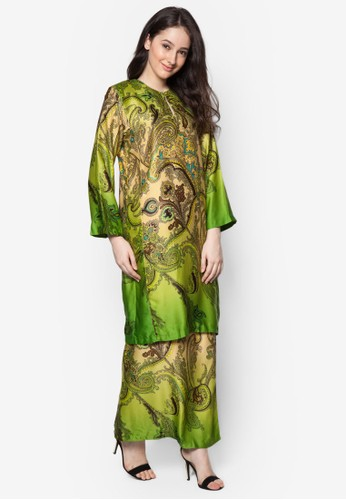 Baju Kurung Azani from Butik Sireh Pinang in Green