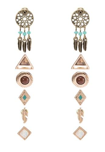 六入民族風耳環zalora退貨, 飾品配件, 耳釘