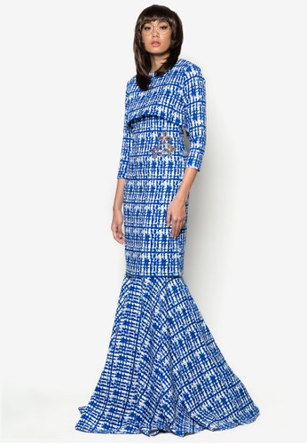 Kurung Badam from Woo/Fiziwoo for Zalora in Blue