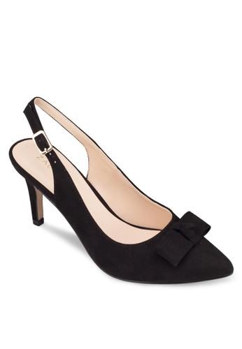蝴蝶結踝帶尖頭中跟鞋, 女鞋zalora鞋, 鞋
