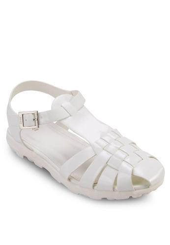 編織護zalora 心得趾繞踝涼鞋, 女鞋, 涼鞋