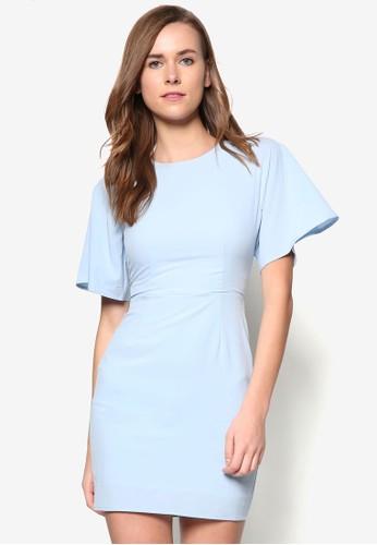 寬袖緊身連身裙, 服飾,zalora 泳衣 洋裝