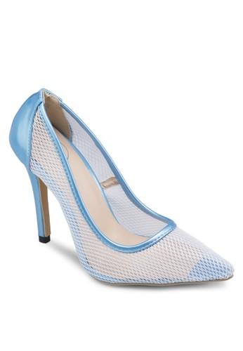 網眼尖zalora 心得頭細跟高跟鞋, 女鞋, 高跟