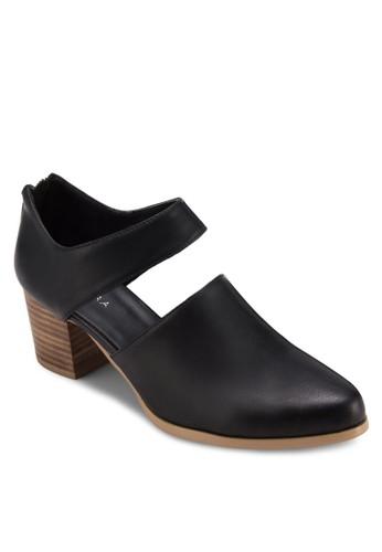 鏤空仿皮木製粗跟鞋, 女zalora鞋子評價鞋, 鞋
