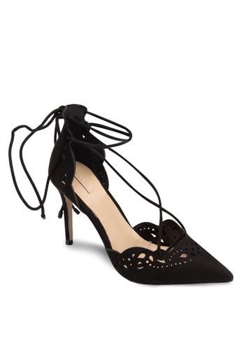 Antoinette 尖頭雕花繫帶高跟鞋, 女鞋, zalora鞋子評價細帶高跟鞋