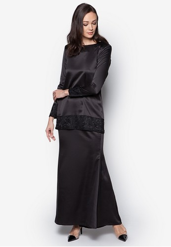 Sahara Kurung Modern from Izzabell Couture in Black