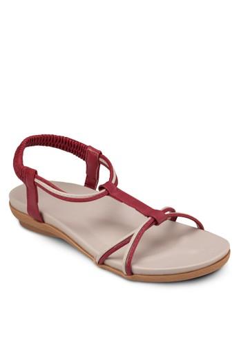 T 字帶繞踝涼鞋, 女鞋,zalora 鞋評價 涼鞋