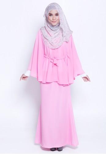 Lamis Kaftan &Mermaid Skirt from Marwa in Pink