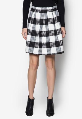Lzalora鞋eka 五分格紋短裙, 服飾, 迷你裙