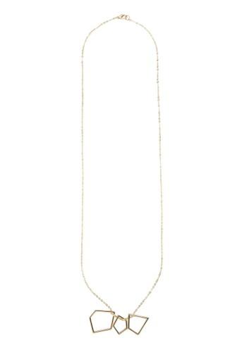 多邊zalora退貨形鏤空墜飾項鍊, 飾品配件, 項鍊