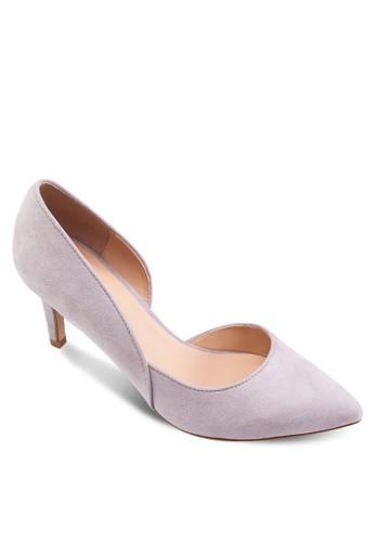側鏤空尖頭高跟鞋, 女鞋, zalora 泳衣厚底高跟鞋
