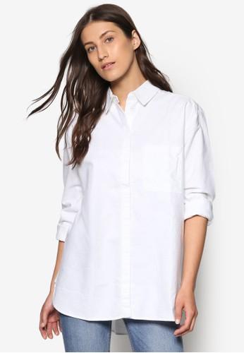 男友風口袋mango 對錶棉質襯衫, 服飾, 服飾
