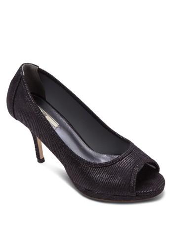 仿蛇紋露趾高跟鞋, 女鞋,zalora退貨 鞋