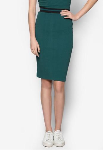 羅紋彈zalora時尚購物網評價性及膝短裙, 服飾, 及膝裙