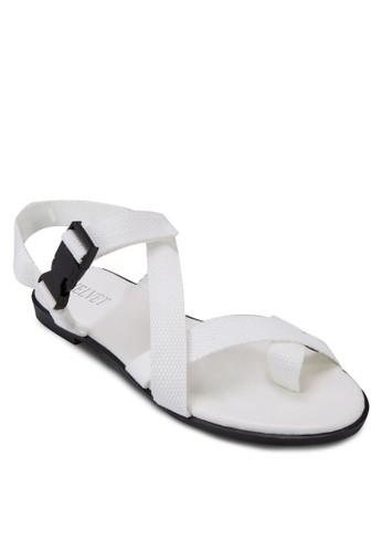 Maybell 扣環交叉繞踝涼鞋, zalora 包包評價女鞋, 涼鞋