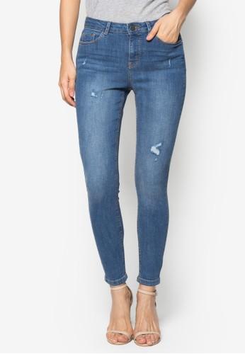 Mid Wash Abrasion 'Darcy' Super Skinny Jeazalora時尚購物網評價ns, 服飾, 緊身牛仔褲