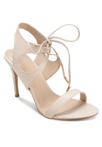 Gritty 鏤zalora 心得空繞踝高跟鞋, 女鞋, 鞋