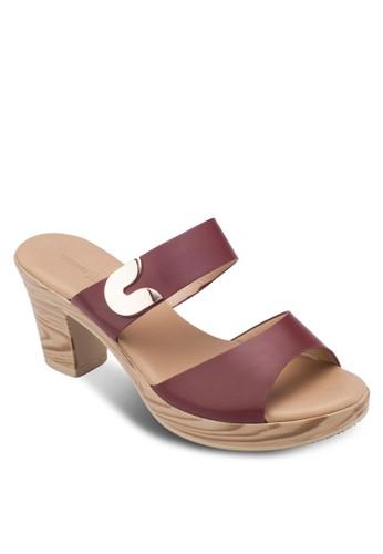 雙帶粗跟涼鞋zalora鞋, 女鞋, 鞋