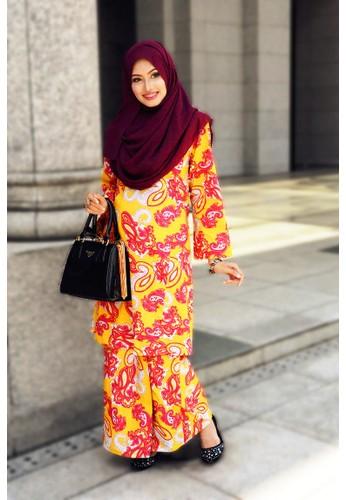 Lebaran CHANTEK Sunshine from Amani Muslimah Essentials in Orange and Yellow
