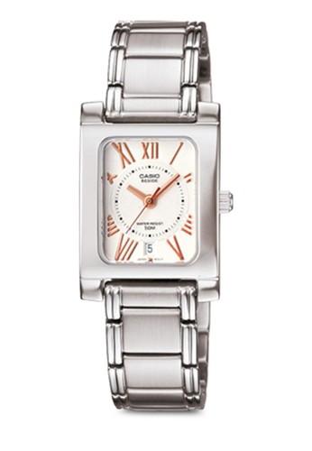 Casio BEL-100D-7A3VDF 不銹鋼方錶,zalora退貨 錶類, 不銹鋼錶帶