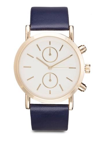 裝飾錶盤三zalora時尚購物網的koumi koumi指針皮革錶, 錶類, 飾品配件